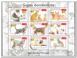 Sao Tome & Principe 2004, Postfris MNH, Cats - Sao Tome En Principe