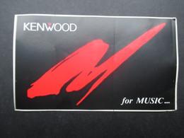 VP AUTOCOLLANT (M1905) KENWOOD (1 VUE) For Music... - Autocollants
