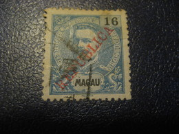 MACAU 1913/4 Yvert 196 Stamp Cancel Cat. Year 2008: 15 Eur Macao Portugal China Area - Macao