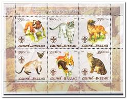 Guinea Bissau 2005, Postfris MNH, Cats, Dogs - Guinea-Bissau