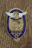 Badge Broche Insigne émaillé International Railway Congress London 1925 N° 521 - Insignes & Rubans