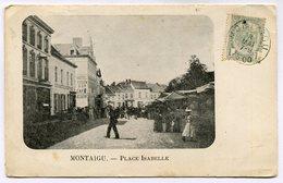 CPA - Carte Postale - Belgique - Montaigu - Place Isabelle - 1900 (M7837) - Scherpenheuvel-Zichem