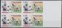 2006.515 CUBA 2006 MNH IMPERFORATED PROOF 2,05$ PERROS, DALMATA, DOG BLOCK 4. - Kuba