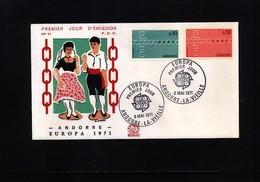 Andorra 1971 Europa Cept FDC - Europa-CEPT