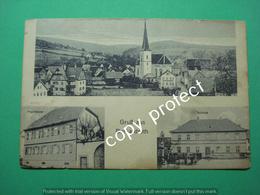 Burkardroth Gruss Aus Panorama Schule Und Pfarrhaus - Bad Kissingen