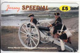 JERSEY ISL. - Antique Firearms Association, Speedial Prepaid Card 5 Pounds, Tirage 2000, Exp.date 01/03, Mint - United Kingdom