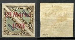 Estland Estonia 1923 Michel 44 Ba * 1,75 Mm Signed K. Kokk - Estland