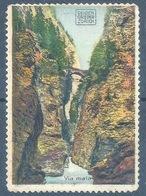 """Vignette  """"Via Mala - Seiden Grieder""""           Ca. 1920 - Suisse"""