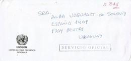 UNAVEM III 1996 Angola Uruguay Military Peacekeeping Official UNOSOM Cover Via Diplomatic Pouch - Angola