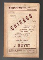 Partition Chicago Fox-Trot Un Succès De J. Buyst - Piano, Accordéon, Violon, Saxo-Alto, Trompette, Contre Basse... - Partitions Musicales Anciennes