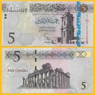 Libya 5 Dinars P-81 2015 UNC - Libia