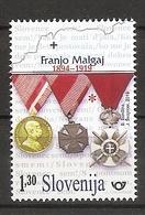 SLOVENIA 2019,ANNIVERSARIES,FRANJO MAGLAJ S MEDALS,WW1,MNH - Slovénie