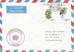 UNAVEM I 1989 Angola Czechoslovakia Military Peacekeeping Black Crowned Crane Cover - Angola
