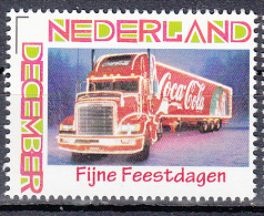 Nederland Persoonlijke Decemberzegel Thema: Auto, Car Coca-cola - Ongebruikt