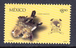 1.- MEXICO 2004 100 YEARS OF MEXICAN GEOLOGICAL SOCIETY - MINERALS Amethyst - Minerales