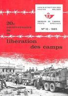 Feuillet N°10 De 1965 - Poste Belge - Belgium - 20e Anniversaire De La Libération Des Camps - Documents Of Postal Services