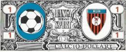 FIGURINA CALCIO DOLLARI RITMO CALTAGIRONE SCUDETTO MILAN ANNI '60 - Calcio