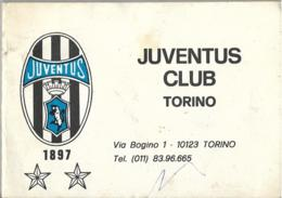 Calendarietto JUVENTUS CLUB TORINO Campionato 1983/84 - Calcio