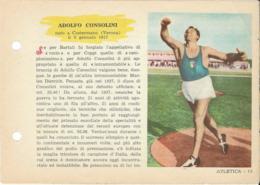 SCHEDA N° 13 CONSOLINI ADOLFO ATLETICA ENCICLOPEDIA DELLO SPORT 1958/59 - Sports