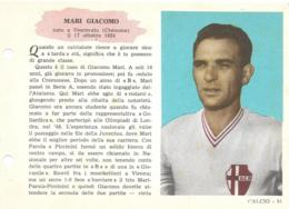 SCHEDA N° 51 GIACOMO MARI PADOVA ENCICLOPEDIA DELLO SPORT 1958/59 - Sports