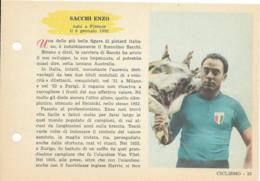 SCHEDA N° 33 SACCHI ENZO CICLISMO ENCICLOPEDIA DELLO SPORT 1958/59 - Sport