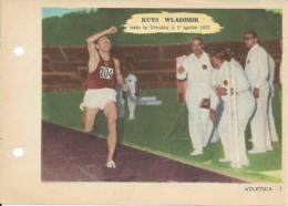 SCHEDA N° 7 KUTS WLADIMIR ATLETICA ENCICLOPEDIA DELLO SPORT 1958/59 - Sports