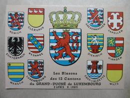 Les BLASONS Des 12 CANTONS Du GRAND-DUCHE De LUXEMBOURG D'après R. Louis - Cartes Postales