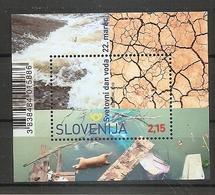 SLOVENIA 2019,WORLD WATER DAY,WELTWASSERTAG,,BLOCK,MNH - Slovénie