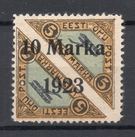 ESTLAND ESTONIA 1923 Michel 43 B * Privatzähnung Private Perforation - Estonia