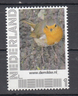 Nederland  Persoonlijke Zegels Vogel, Bird, Roodborstje, Robin - Periode 2013-... (Willem-Alexander)
