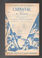 Partition Carnaval One Step - Les Succès Pour Accordéon De J. Buyst - Partitions Musicales Anciennes