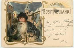 N°12128 - Prosit Neujahr 1900 - Veilleur - JV Kulas - New Year