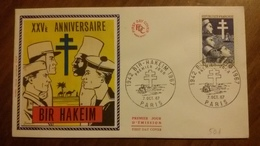 Premier Jour  FDC..  XXV  ANNIVERSAIRE  .. BIR  HAKEM 1967 - Other