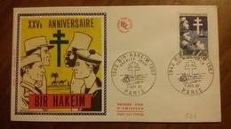 Premier Jour  FDC..  XXV  ANNIVERSAIRE  .. BIR  HAKEM 1967 - FDC