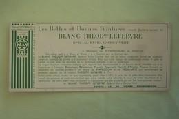 BUVARD , Peinture Le Blanc Théodore Lefebvre , Lille - Peintures