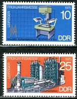 DDR - Mi 2023 / 2024 - ** Postfrisch (E) - 10-25Pf      Leipziger Frühjahrsmesse 75 - DDR