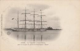 """27 - AIZIER - Le """"Quevilly"""" Bateau Citerne, Pour Le Transport Du Pétrole De Philadelphie à Rouen - France"""