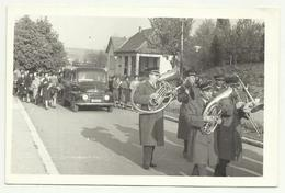 Serbia Beograd , Funeral Musicians Orchestra Trumpet ,old Bus , Old Real Photo - Musique Et Musiciens