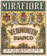 """07741 """"VERMOUTH BIANCO - S. A. MIRAFIORE CANELLI"""" ETICH. ORIG - Etichette"""