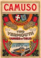 """07742 """"VINO VERMOUTH CAMUSO ET TIGLIO - APERITIF A BASE DE VIN"""" ETICH. ORIG - Etichette"""