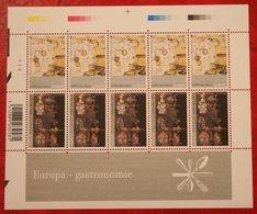 Complete Sheet Gastronomie OBC N° 3386-3387 (Mi 3437-3438) 2005 POSTFRIS MNH ** BELGIE BELGIEN / BELGIUM - Belgien