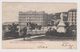 NAPOLI, Grand Hotel E Statua Di Sigismondo Thalberg,  Ediz. De Simone 7   - F.p. - Fine '1800 - Napoli