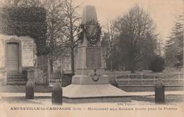 27 - AMFREVILLE LA CAMPAGNE - Monument Aux Soldats Morts Pour La France - France