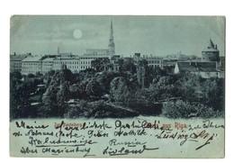 1899 - Gruss Aus Riga - Der Basteiberg / Moonlight, Moonshine - Lettonie