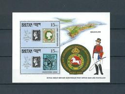 BHUTAN, 1990, Stamp World London'90  S-s. MNH - Bhutan