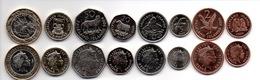 Falkland Islands - Set 8 Coins 1 2 5 10 20 50 1 2 Pounds 2004 AUNC Lemberg-Zp - Falkland Islands