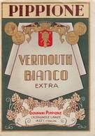 """07744 """"VERMOUTH BIANCO EXTRA .- GIOVANNI PIPPIONE - CASTAGNOLE LANZE"""" ETICH. ORIG - Etichette"""