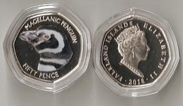 Falkland Islands - 50 Pence 2018 UNC Magellanic Penguin Lemberg-Zp - Falkland