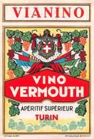 "07745 ""VINO VERMOUTH - APERITIF SUPERIEUR TURIN - VIANINO"" ETICH. ORIG - Etichette"