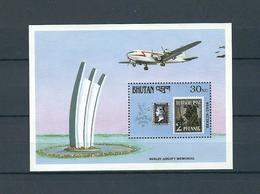 BHUTAN, 1990, Stamp World London'90  S-s. MNH - Expositions Philatéliques